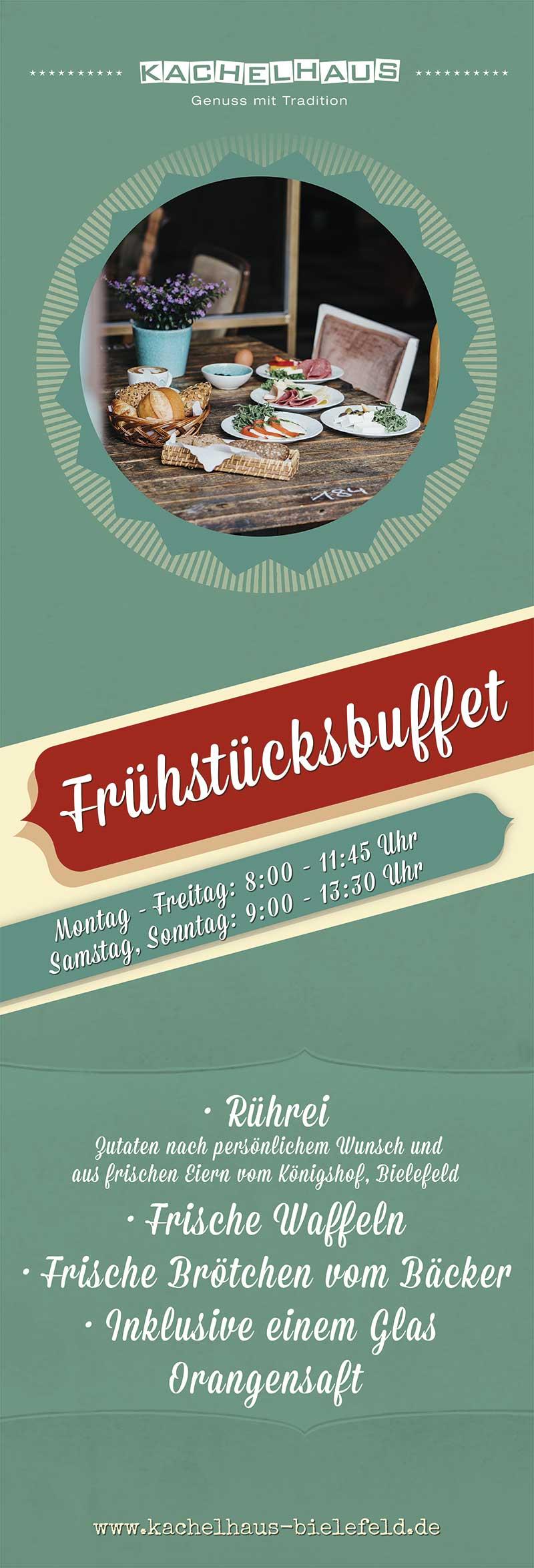 fruehstuecksbuffet taeglich Kachelhaus Bielefeld
